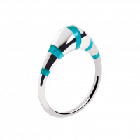 "Ring ""Pinstripes"" turquoise"
