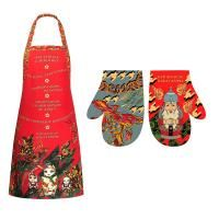 Set of apron and mitten nesting Dolls