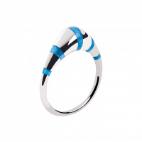 "Ring ""Pinstripes"" blue"