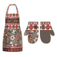 Set of apron and mitten A La Russe