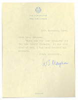 A letter signed by Somerset Maugham